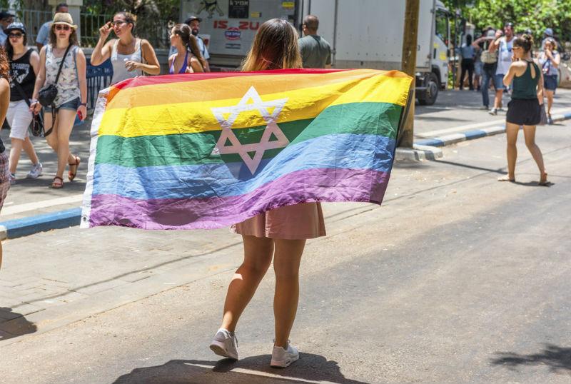 נערה עם דגל גאווה