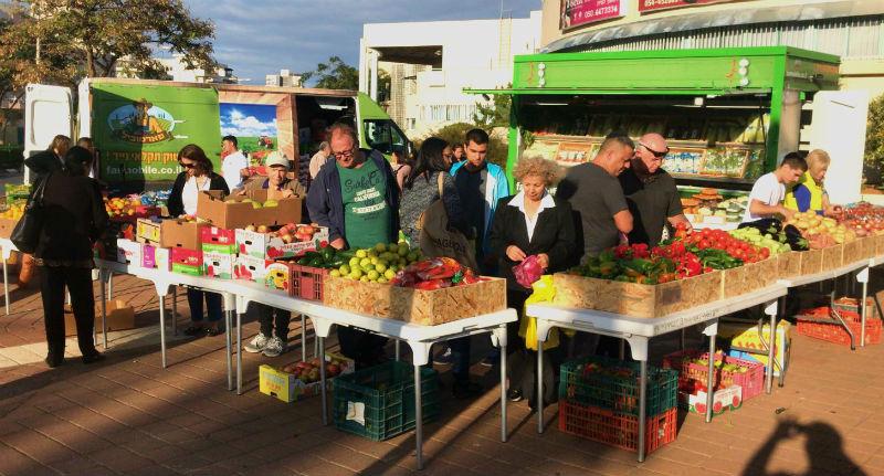 משאית פארמוביל ראשון לציון ירקות