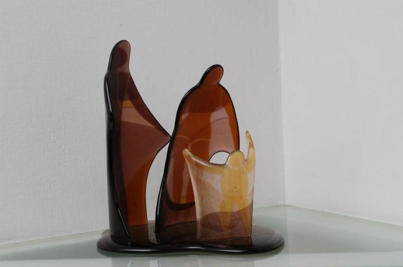 עבודה בזכוכית של יצירה של שוש בטלהיים