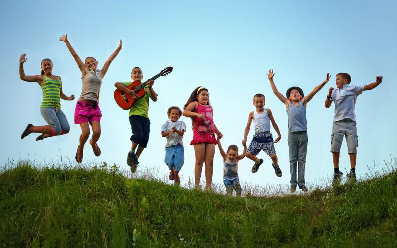 ילדים בחופשה