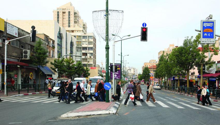 צומת הרחובות הרצל רוטשילד ראשון לציון
