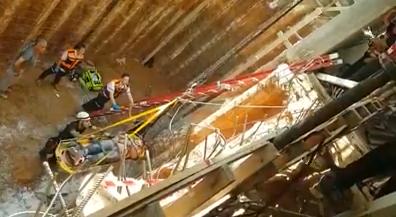 פועל נפל אל בור באתר בניה