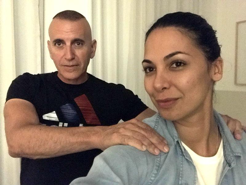 מורן אטיאס ומשה מורנו במועדון הכושר זאוס