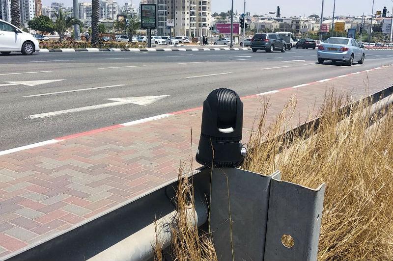 מצלמה טקטית של המשטרה במרכז ראשון לציון (משטרת ישראל)