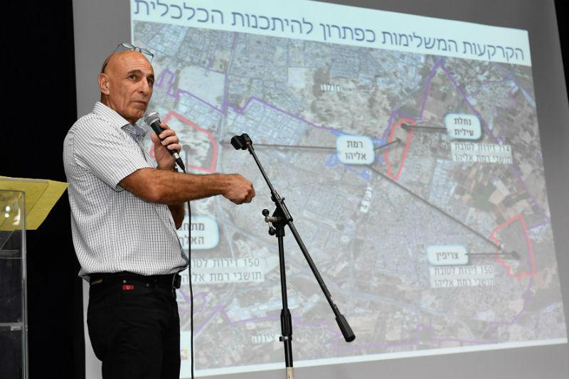 ראש מנהלת רמת אליהו- דודו מנצור בכנס תושבים