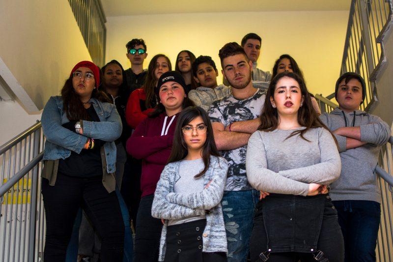 פרלמנט הנוער של ראשל''צ יחד עם אופק בסרטון נגד בריונות. (פרלמנט הנוער בראשל''צ)