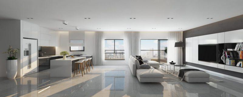 הדמיה של הסלון בפרויקט Unik Boutique. קרדיט הדמיה: עדי בואנו
