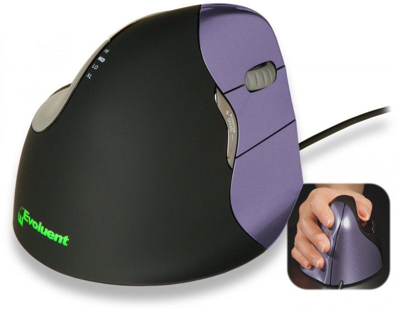 עכבר מחשב שעוזר בהקלה על הכאבים. צילום: evoluent