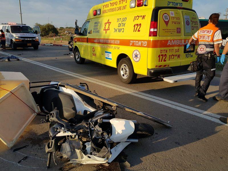 תאונה רוכב אופנוע