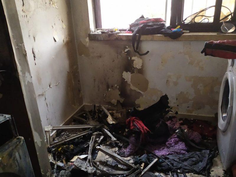 דירה נשרפה