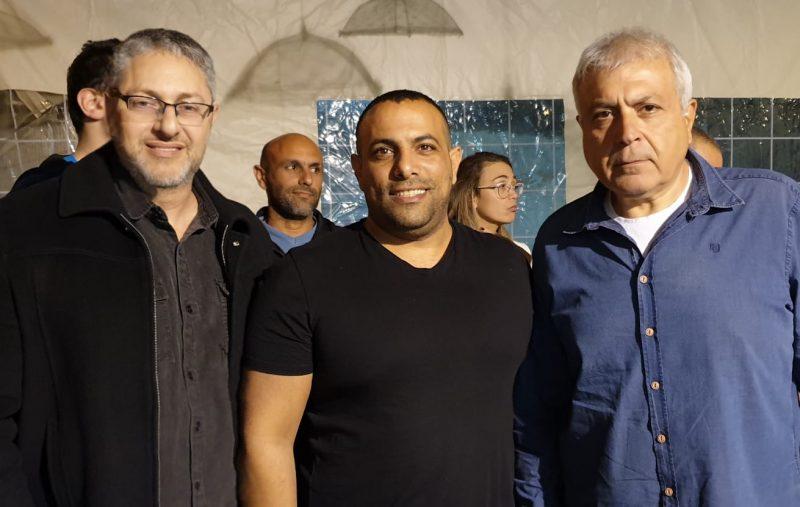 השולמנים: אביר קארה, מיקי אלון ואיציק אבשלומוב
