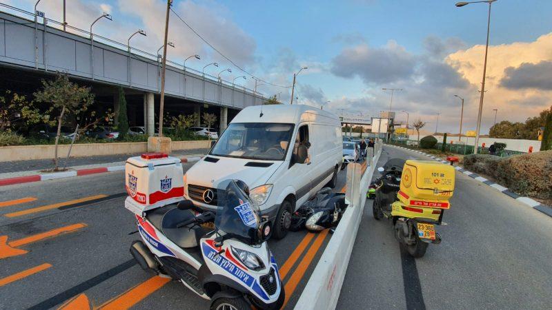 זירת התאונה בראשון לציון