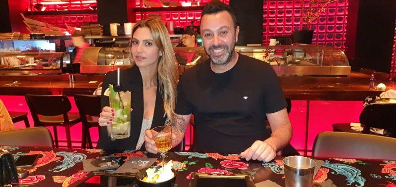 ליאור נרקיס ואשתו ספיר חוגגים בסוהו